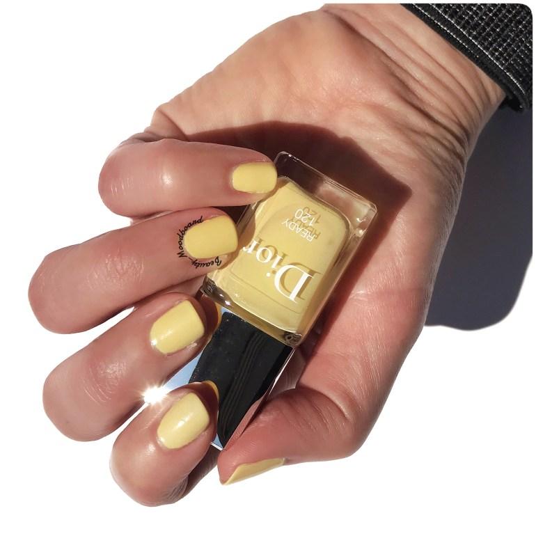 Swatch du vernis Dior Ready 120 collection Color Game été 2020