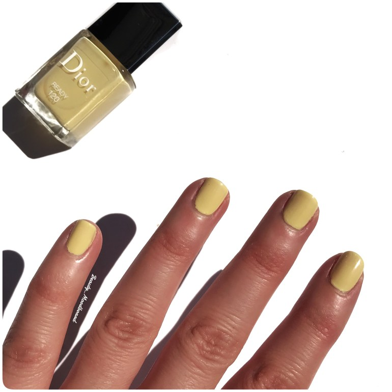 Fini opaque et glossy vernis jaune pastel Ready 120