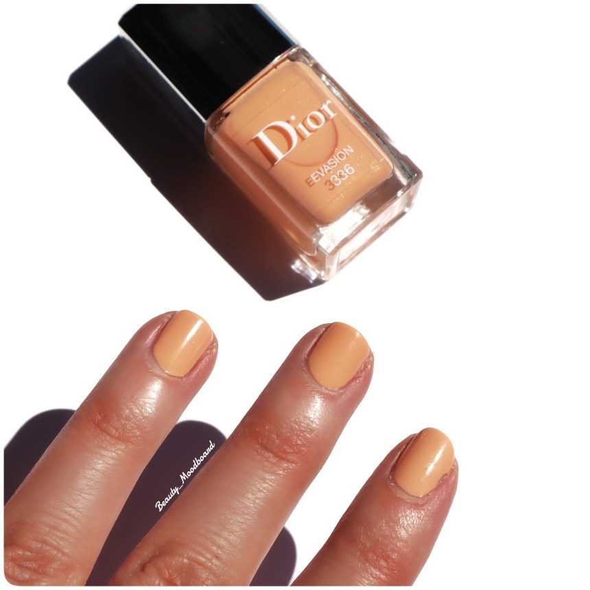 Vernis couleur pastel abricot longue tenue et brillance effet gel