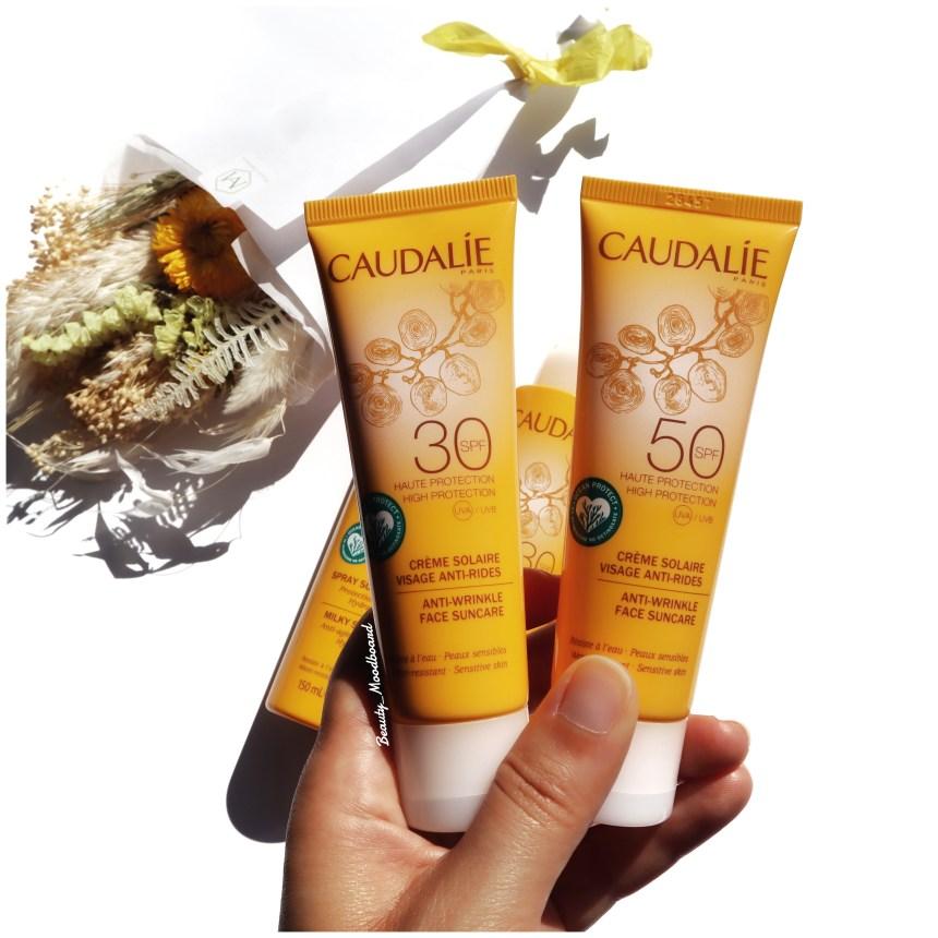 Nouvelles protections solaires Caudalie Crème visage anti rides SPF30 SPF50