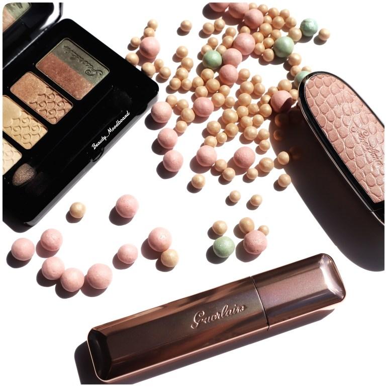 Maquillage Guerlain pour les yeux, les lèvres et le teint