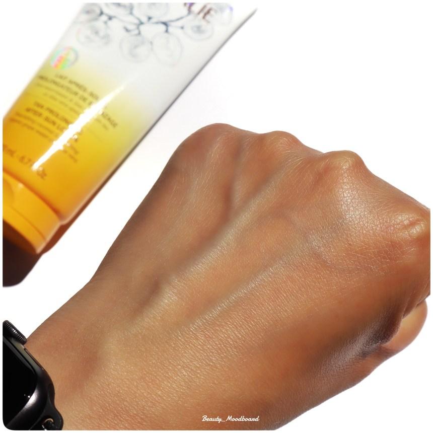 Peau hydratée et hâlée soin prolongateur de bronzage