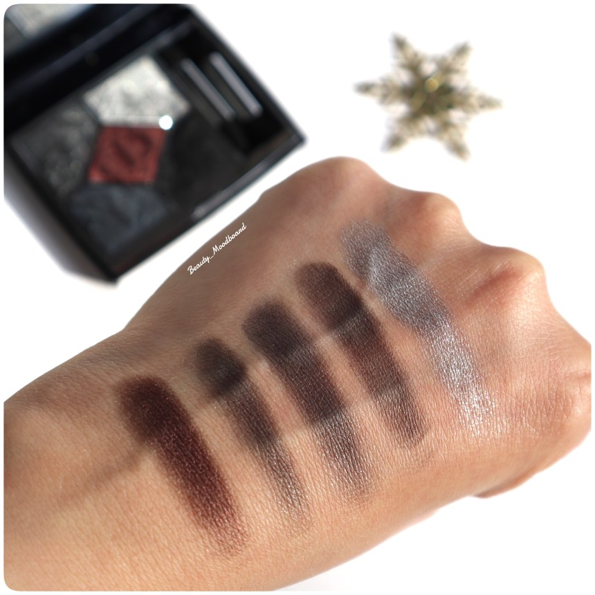 Swatch Palette 5 Couleurs Dior Black Night 089