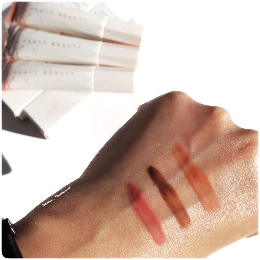 Swatches Fenty Beauty Pro Kiss'R Luscious Lip Balm
