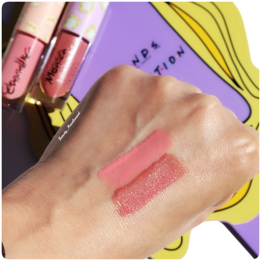 Swatch Lip Gloss Monica & Chandler