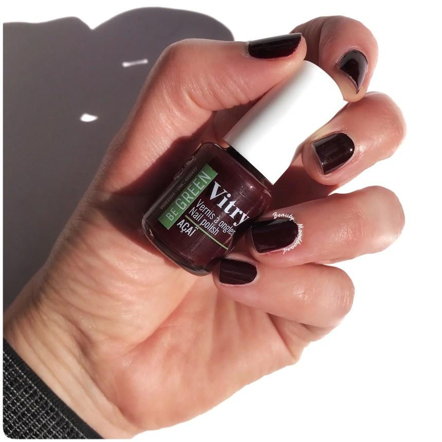 Swatch ongles vernis Vitry Be Green Açai