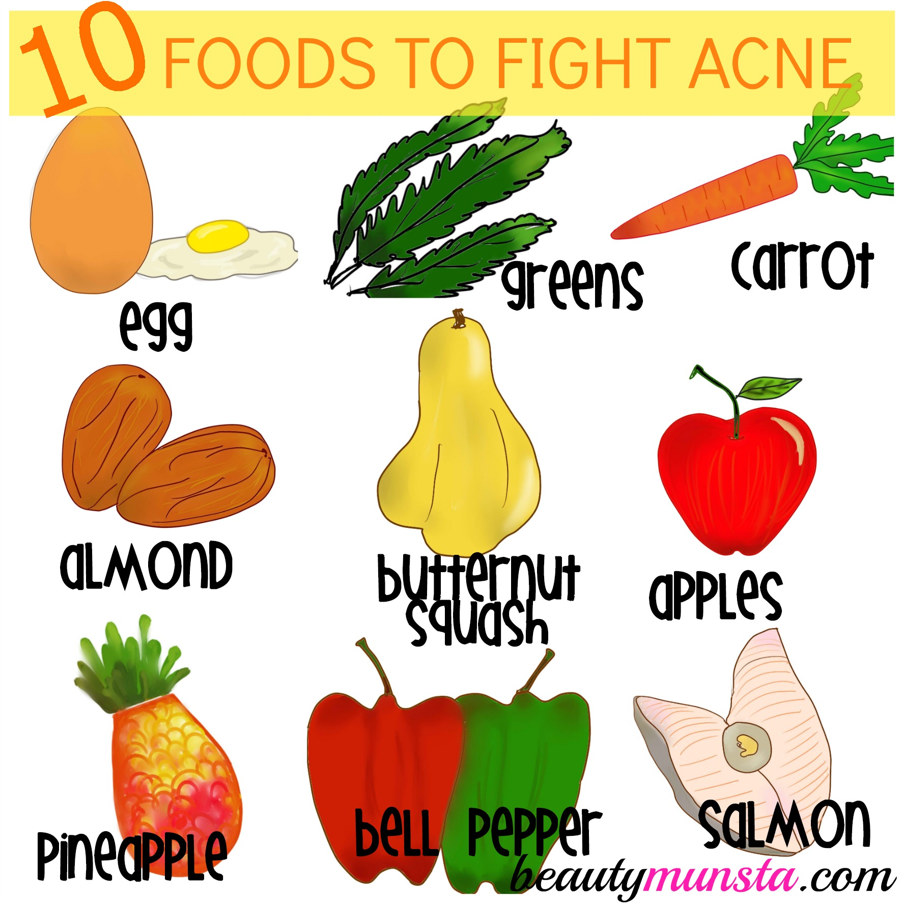 Foods That Can Get Rid Of Acne