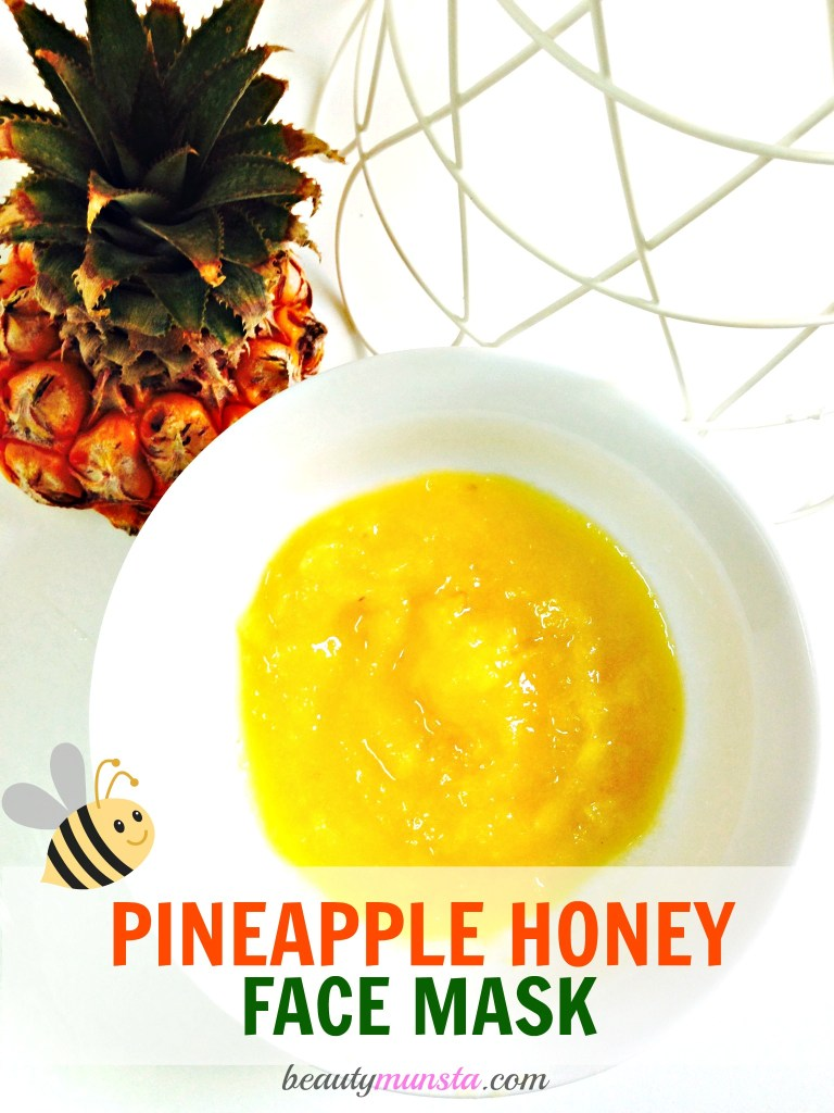 pineapple honey face mask