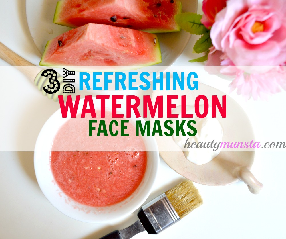Here are three refreshing water melon face mask recipes to hydrate & rejuvenate tired skin!