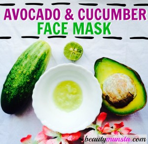 DIY Cooling Avocado Cucumber Face Mask