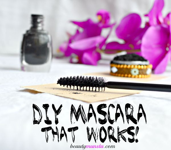Make this non-flaky, non-clumpy diy mascara with activated charcoal at home! It works!