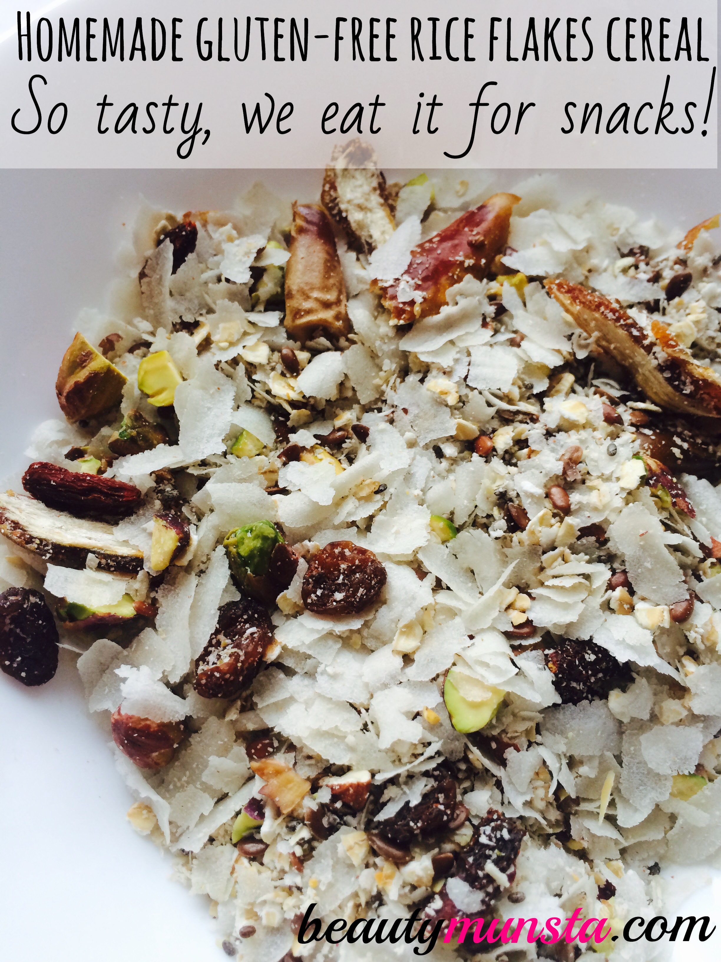 Make your own healthy, crunchy an delicious homemade gluten-free cereal flakes!
