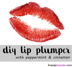 DIY Lip Plumper Recipe with Peppermint and Cinnamon!