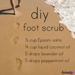 Homemade Foot Scrub for Dry Cracked Feet