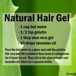 DIY Natural Hair Gel with Aloe Vera (for all Hair Types)