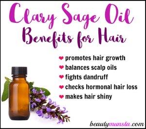 Clary Sage Oil for Hair Growth & Lovely Locks