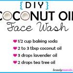 DIY Coconut Oil Face Wash