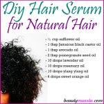 DIY Hair Serum for Natural Hair