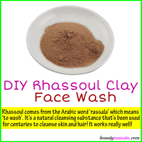Looking for a soap-free face wash that makes your hair super gorgeous! You're on the right page! Make this DIY Rhassoul Clay Face Wash!