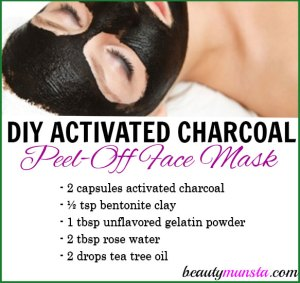 DIY Activated Charcoal Peel-Off Mask