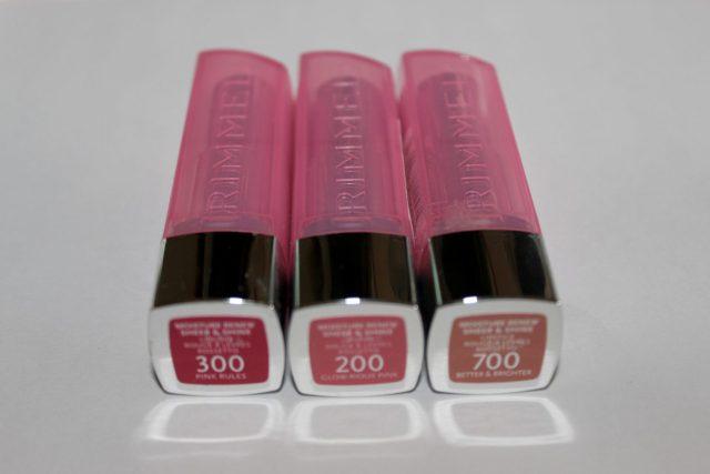 Rimmel Moisture Renew Sheer And Shine Lipsticks