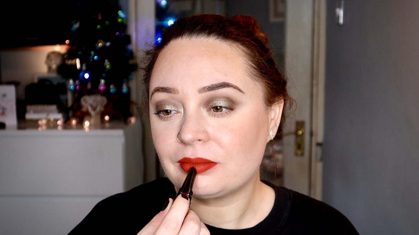 affordable red lip look