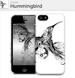 Hummingbird for iPhone 5 Hardcase