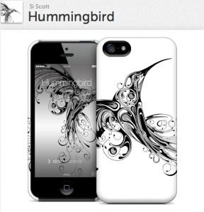 Hummingbird for iPhone 5 Hardcase