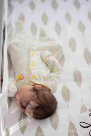 Elegant-Ombre-Herringbone-Nursery crib sheet