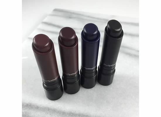MAC Liptensity DOUBLE FUDGE - BURNT VIOLET - BLUE BEAT - STALLION