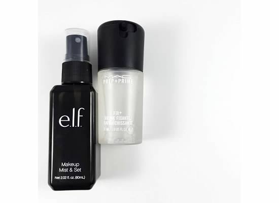 Drugstore Dupes - MAC fix plus dupe - Elf Makeup Spray