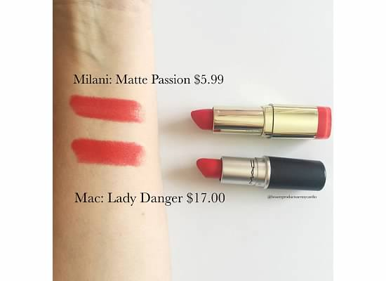 Drugstore Dupes - Makeup Dupes - MAC Lady Danger Dupe