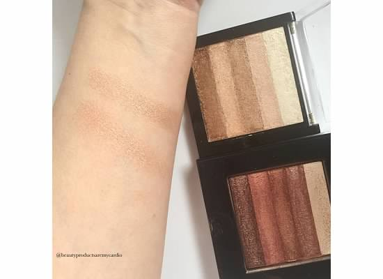 Drugstore Dupes - Makeup Revolution Shimmer Brick - Bobbi Brown Shimmer Brick
