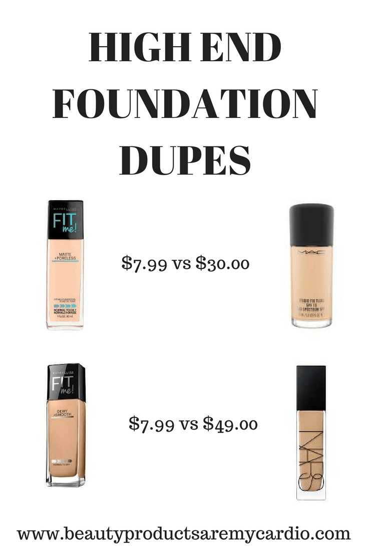 High End Foundation Dupes