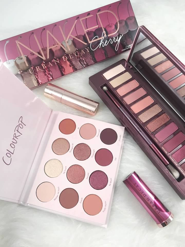 $49 vs $16: Urban Decay Cherry VS ColourPop Give It To Me Straight Palettes
