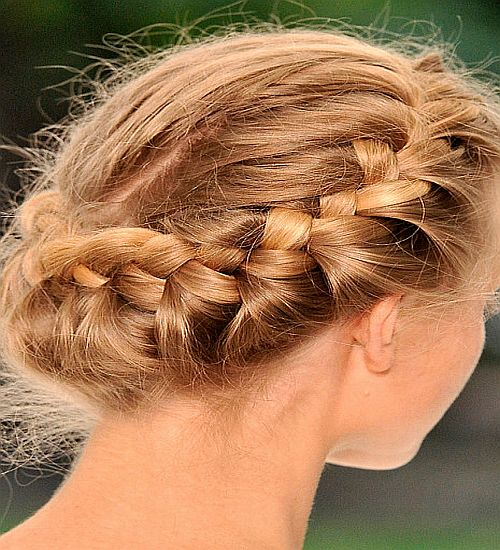 French Braid Hairdo