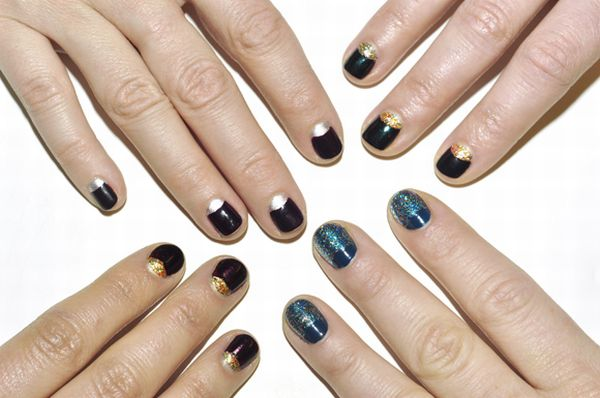 Half moon manicures