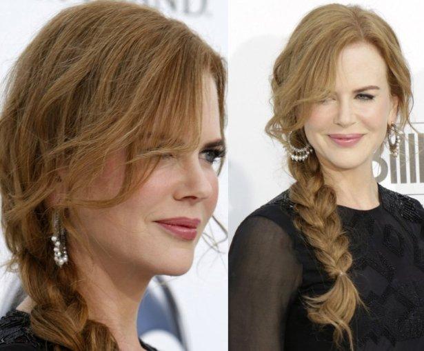 Nicole Kidman's side braids