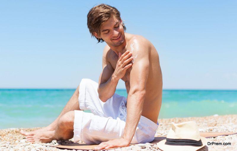 Use of sunscreen