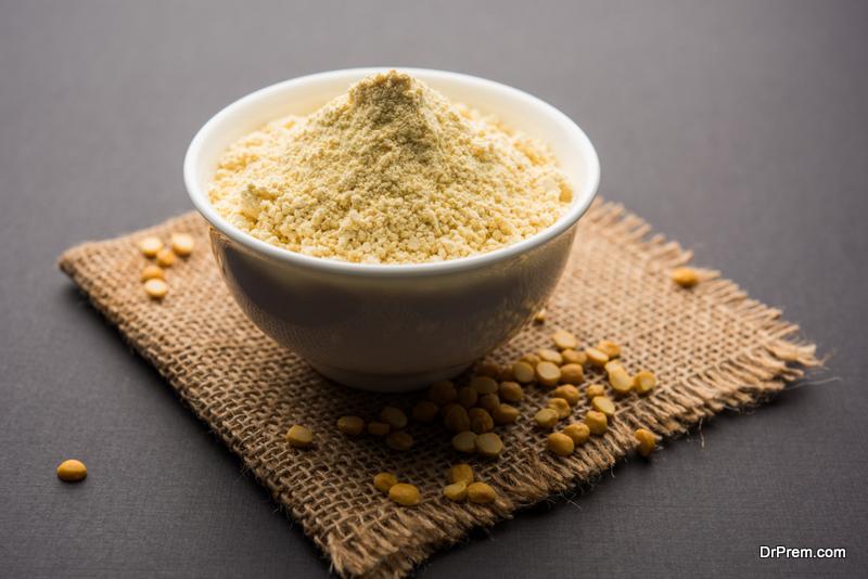 Gram-flour.