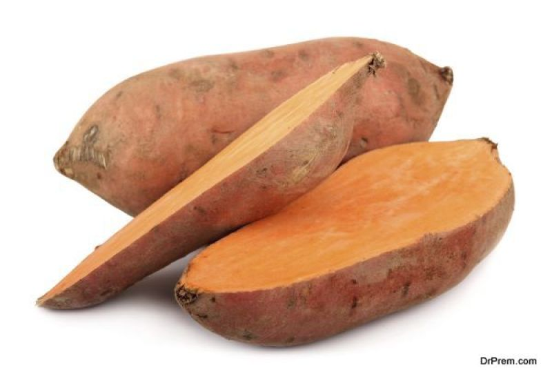Vitamin A, found in sweet potatoes