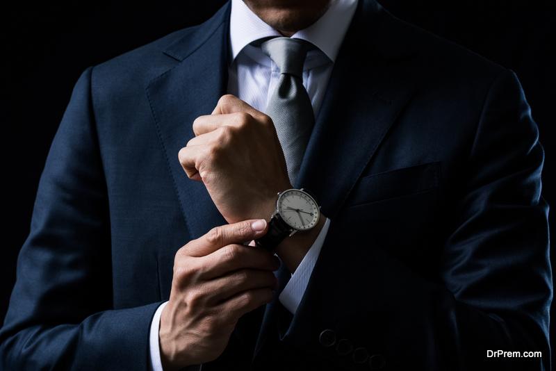 well-made dark suit