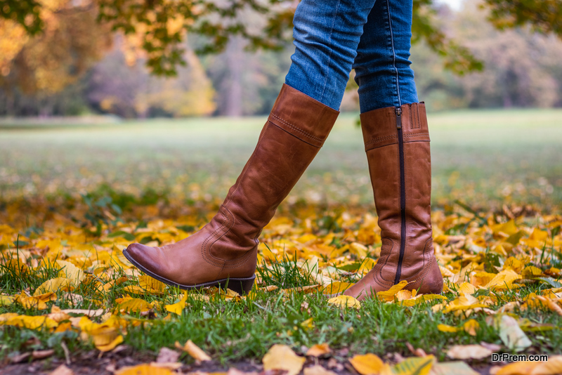 woman wearing good pair of boots