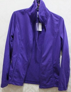 Purple Zip Jacket - Polyester/Cotton AUD$4