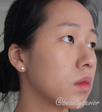 Face with foundation