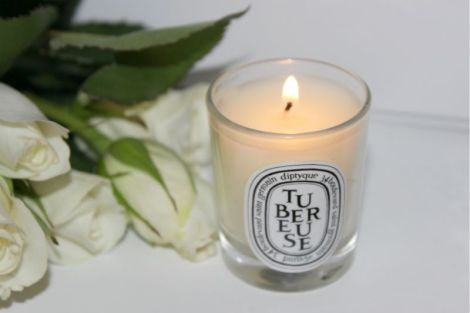 beauty routine-Diptyque Tubereuse Candle Review