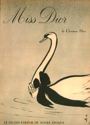 La prima campagna pubblicitaria del 1947 dell'illustratore René Gruau