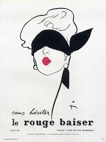Pubblicità del 1950 firmata Rene Gruau