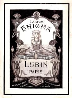 Manifesto pubblicitario del profumo Enigma di Lubin degli anni '20