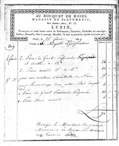 Un ordine del 1809 dell'Imperatrice di Francia